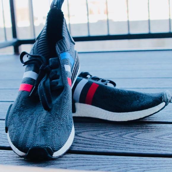 le adidas nmd trico tricolore black us115 uk11 poshmark